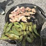 ソラマメと鶏肉